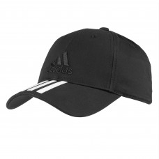 Бейсболка Six-panel Classic 3 stripes, черная